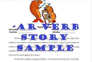 -AR Verb Conjugation Story (Spanish Level 1)