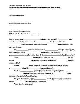 -AR Verb Conjugation Story