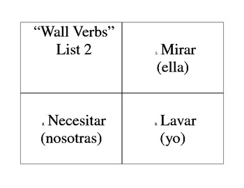 -AR Verb Lists - Practice - Assessments