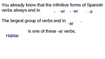-AR Verb Notes PowerPoint