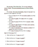 -AR Verb Story with Comprehension Questions (Spanish 1)