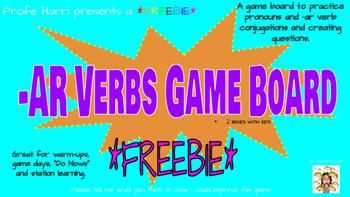 -AR Verbs Game Board