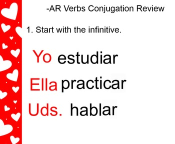 -AR Verbs Smart Board Review