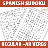 -AR Verbs Spanish Sudoku (Present Tense)