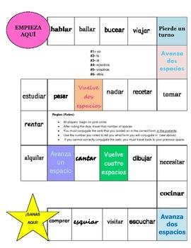 -AR Verbs in the Preterite- Juego de Mesa (Boardgame)