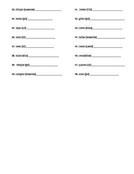 -AR verb conjugation practice