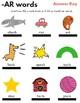 -AR words Worksheet w/Answer Key! Literacy Center Work!