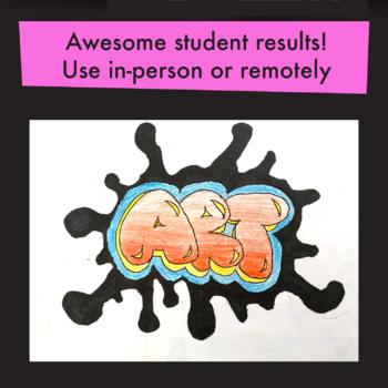 [ART ACTIVITY] Bubble-Style Graffiti Drawings