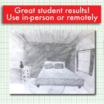 ART LESSON Perspective Practice Drawing A Bedroom