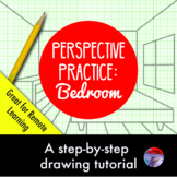 [ART LESSON] Perspective Practice:  Drawing a Bedroom