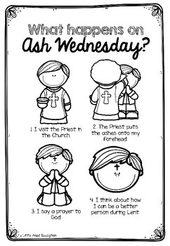 ** ASH WEDNESDAY AND LENT ** ACTIVITY PACK