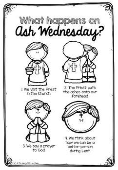 **ASH WEDNESDAY** FREEBIE - CHRISTIAN ACTIVITY