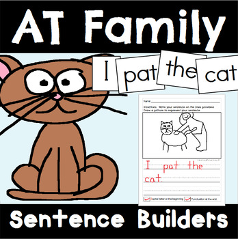 -AT Family Sentence Builders