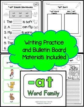 -AT Word Family Practice Printables