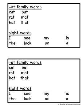 -AT Word Family Reader