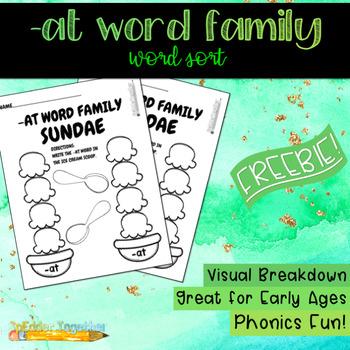 -AT Word Family Sundae
