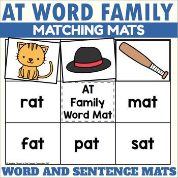 AT Word Family Word and Sentence Matching Mats
