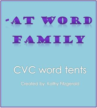 -AT Word Tents CVC/CCVC