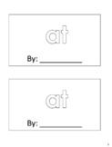 """""""AT"""" - sight word book"""