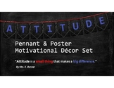 """ATTITUDE"" Pennant & Poster Motivational Bulletin Board Set"