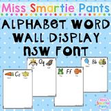 Alphabet Word Wall Display NSW Font