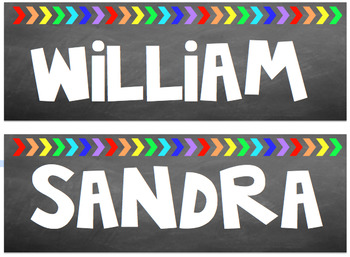 Chalkboard Arrow Labels- Two styles {Editable}