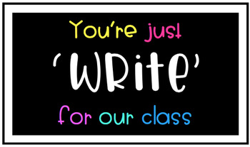 #AUSBTS17 You're Just 'Write' For Our Class