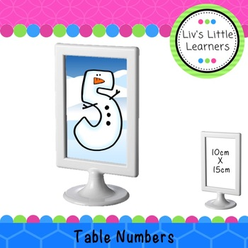 Ikea Frame Winter Table Numbers (snowman)