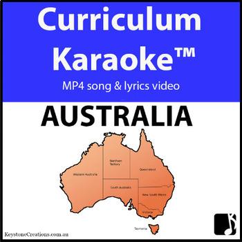 'AUSTRALIA' ~ Curriculum Karaoke™ MP4 Song & Lyrics for Whiteboard