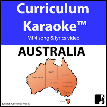 'AUSTRALIA' ~ MP4 Curriculum Karaoke™ READ, SING & LEARN Along Video