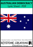 'AUSTRALIAN DEMOCRACY' ~ Lyrics PDF (Grades 3-8) l Distanc
