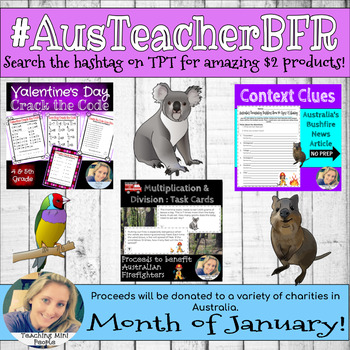 #AUSTeacherBFR Bundle - Proceeds donated to Australia