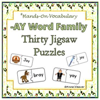 -AY Word Family/ Thirty Jigsaw Puzzles