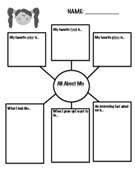 """""""About Me"""" Graphic Organizer"""