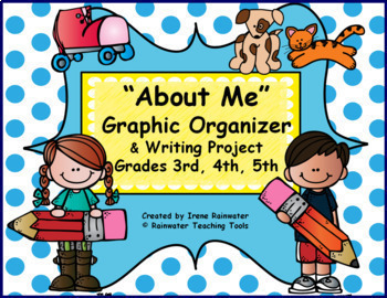 """""""About Me"""" Graphic Organizer and Writing Activity Project"""