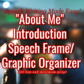 """""""About Me"""" Introduction Speech Frame"""