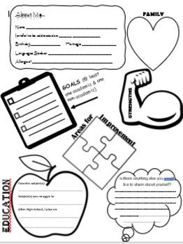 """""""About Me...."""" Student Survey"""