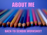 """About Me"" Worksheet"