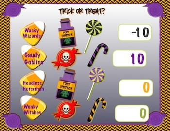 Halloween * Academic Games* Team Points Tracker  *Promethean Flipchart*