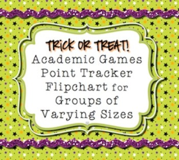 Halloween * Academic Games* Team Points Tracker  *Promethe
