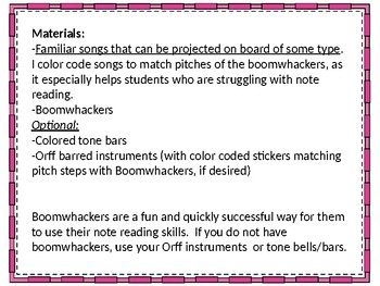 """Accessible for All"" Note reading Review using Boomwhackers"