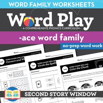 -Ace Word Family Worksheets No Prep Long Vowel A Chunk Spelling