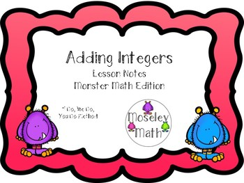 **Adding Integers Lesson Notes Freebie!!**