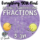 - Adding and Subtracting Fractions with Unlike Denominators TEKS 5.3H Resources