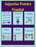 """""""Adjectives have the Answers"""" Posters Freebie!"""