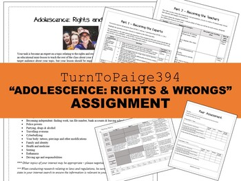 """""""Adolescence: Rights and Wrongs"""" Assignment"""