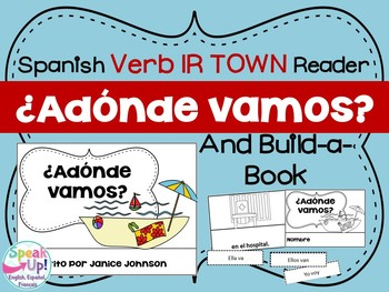 ¿Adónde vamos? Spanish Verb IR Town Reader & Build-A-Book