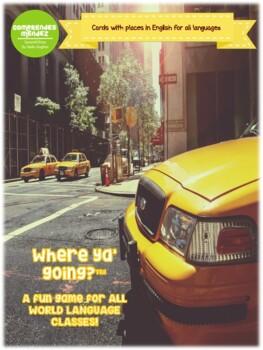 ¿Adónde vas? (English edition for all languages)