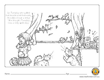 'Adorable Alice' picture book colouring in page