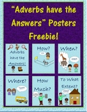 """""""Adverbs have the Answers"""" Posters Freebie!"""